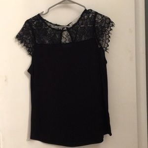 Cute black top with lace